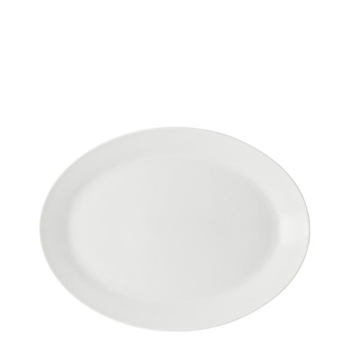 Anton Black Oval Plates