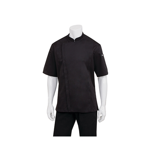 Chef Works Men's Springfield Black Chef Jackets