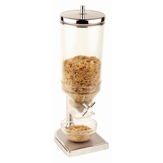 Stainless Steel Fresh & Easy Cereal Dispenser 4.5Ltr Clear / Silver