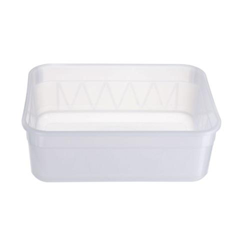 Semi Transparent Rectangular Container 2 Ltr