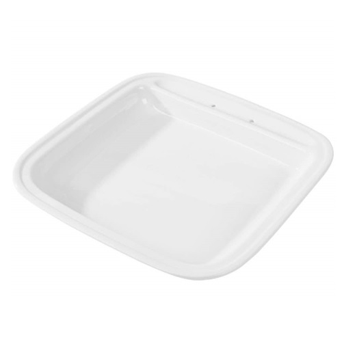 Vollrath Square Porcelain Food Pan White