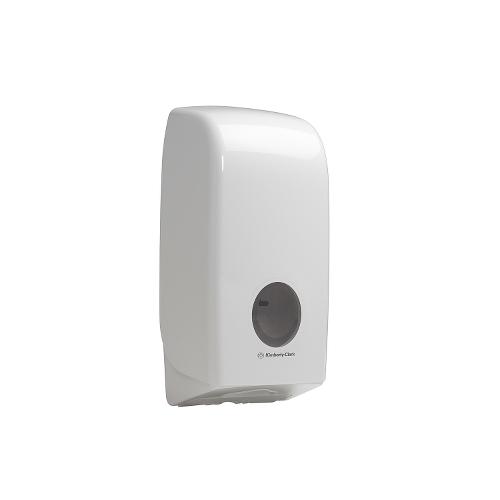 Kimberly Clark AQUARIUS Folded Toilet Tissue Dispenser 34.1cm x 16.9cm x 12.3cm White