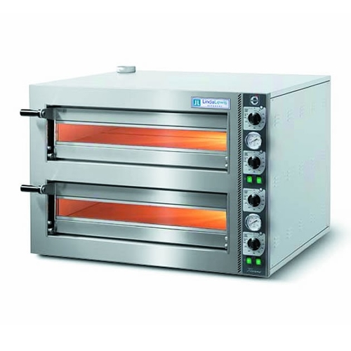 Cuppone Twin Deck Countertop Tiziano Pizza Oven Stainless Steel