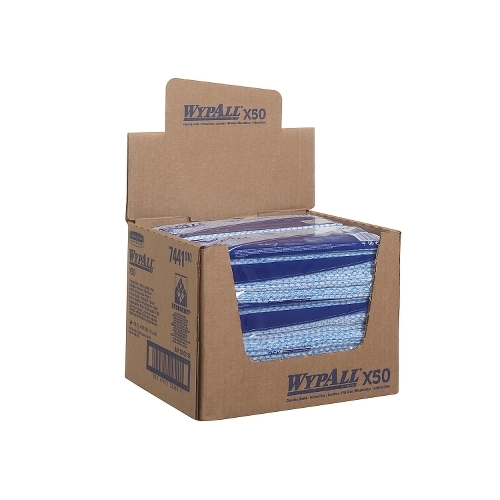 Kimberly Clark Wypall X50 Colour Coded Cleaning Cloth 1Ply Blue