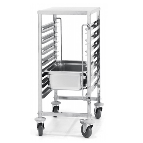 Hendi Gastronorm Stacking Trolley 7 x GN 1/1 Stainless Steel