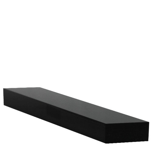 Large  Acrylic Plinth 283 x 80 x 20mm  Black