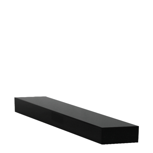 Small  Acrylic Plinth 233 x 50 x 20mm Black