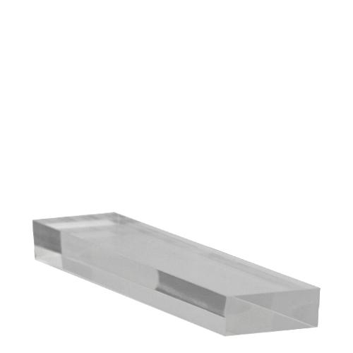 Small  Acrylic Plinth 233 x 50 x 20mm Clear