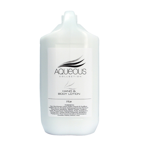 Aqueous Hand & Body Lotion Refill 5 Ltr White