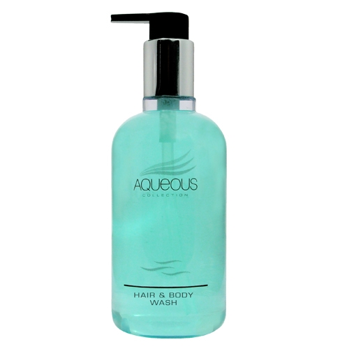 Aqueous Hair & Body Wash Pump Bottle 20 x 300ml Blue