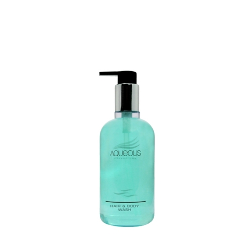 Aqueous Hair & Body Wash Pump Bottle 300ml Blue