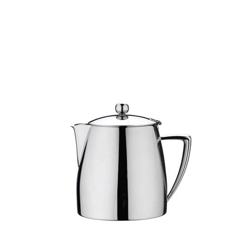 Grunwerg Art Deco Mirror Finish Teapot 28oz Silver