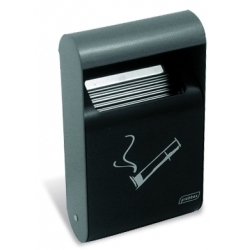 Wall Mounted  Ashtray with Liner 1.5Ltr Dark Grey