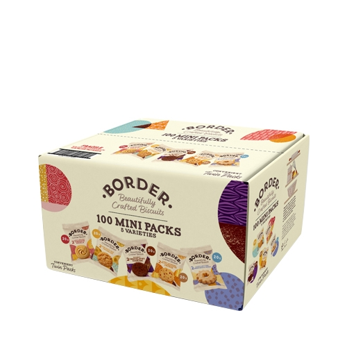 Borders Assorted  Mini Pack Biscuits Box 100 packs of 2 biscuits