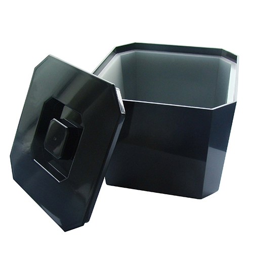 Plastic Octagonal Ice Bucket 8 Pint Black
