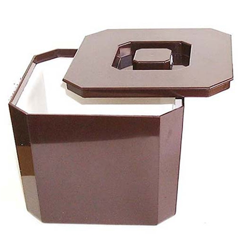 Octagonal Ice Bucket 4.5Ltr Brown