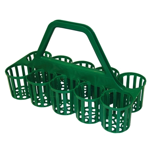 Beaumont Plastic Glass Carrier 10 Pints Green