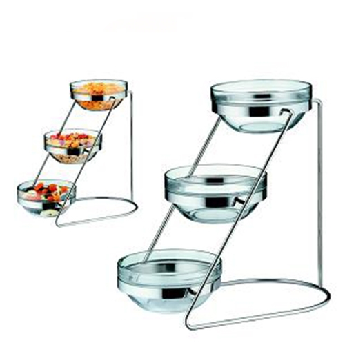 WMF Three Tier Glass Bowl Cereal Stand Only Stainless Steel