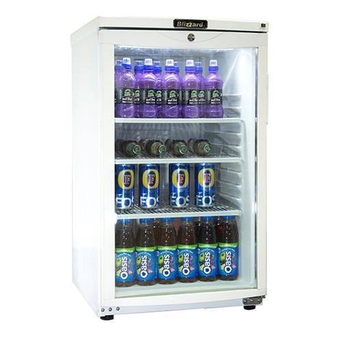Blizzard Budget Glass Door Refrigerator BC105 105L White