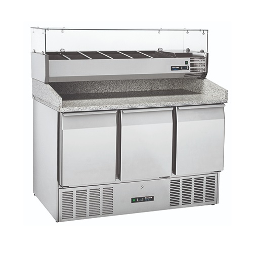 Blizzard Refrigerated Pizza Prep Unit BCC3PIZZA Stainless Steel