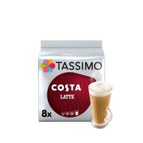 Tassimo Costa Latte Coffee Pods 8 Pods