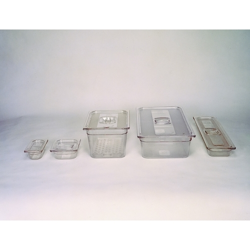 Polycarbonate  Gastronorm Handled Lid 2/1  Clear