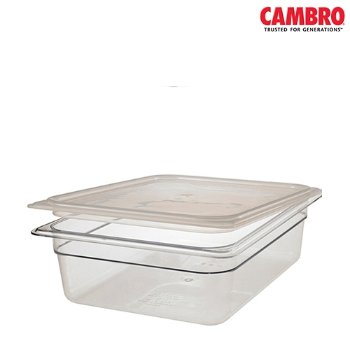 Cambro  Polycarbonate  Seal Lid 1/4 Clear