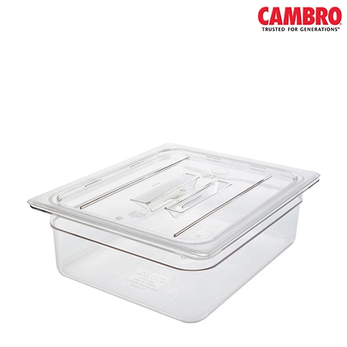 Cambro  Polycarbonate Handled Lid Notched 1/1 Clear