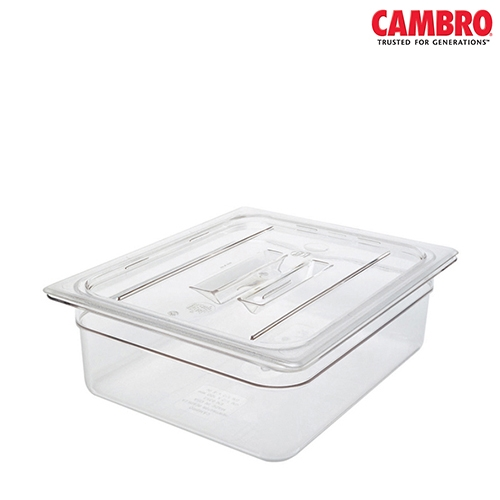 Cambro  Polycarbonate handled notched lid for gastron 1/3 32.5 x 17.6cm Clear