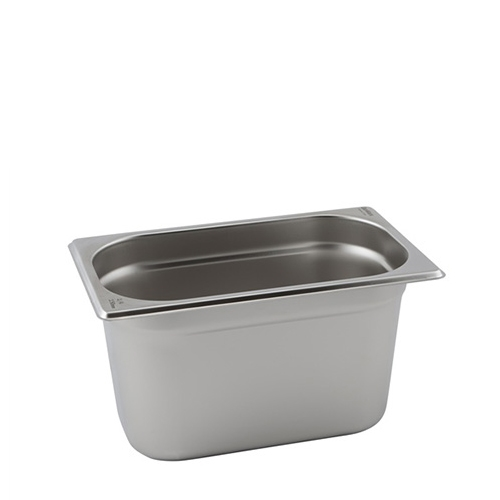 Stainless Steel  Gastronorm 100mm 1/4 Silver