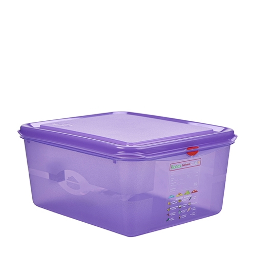 Allergen Gastronorm Container 1/2 GN (10Ltr) Purple
