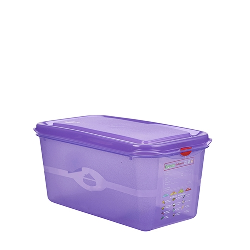 Allergen Gastronorm Container 1/4 GN (4.3Ltr) Purple