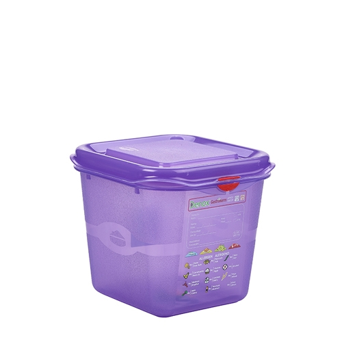 Allergen Gastronorm Container 1/6 GN (2.6Ltr) Purple