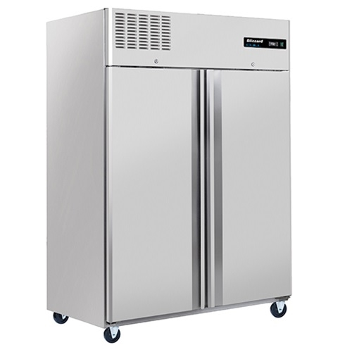 Blizzard Upright Double Door Fridge S/S BH2SS 1200Ltr Stainless Steel