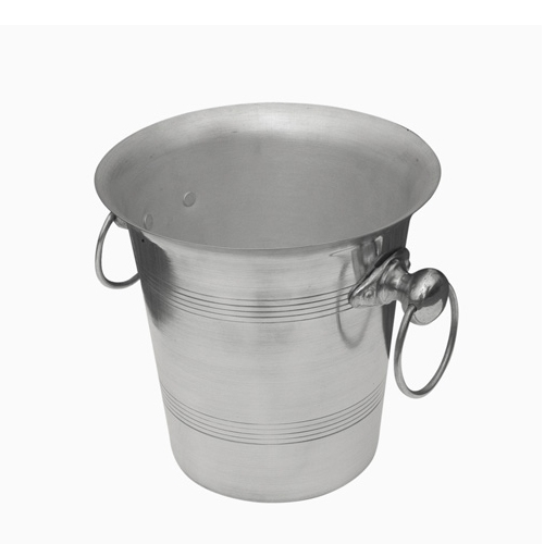 Beaumont Aluminium Ring Handled Wine Bucket 4Ltr  Silver