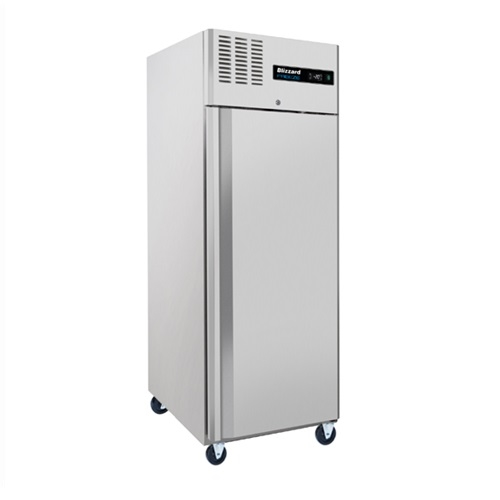 Blizzard Upright Single Door Freezer S/S BL1SS 550Ltr Stainless Steel