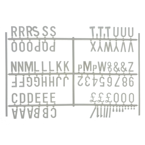 "Beaumont 3/4"" Letter Set (540 character) White"