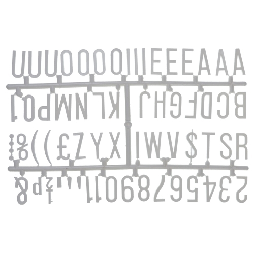 "Beaumont 1.25"" Letter Set (390 characters) White"
