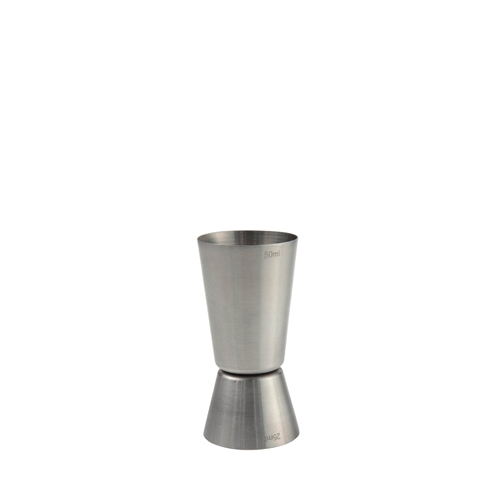 Beaumont 18/10 Stainless Steel Cocktail Jigger 25/50ml  Silver