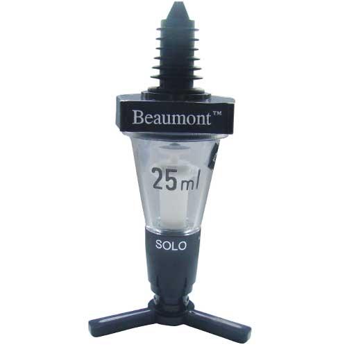 Beaumont Solo Classical Push Up Spirit Measure 25ml GS Black