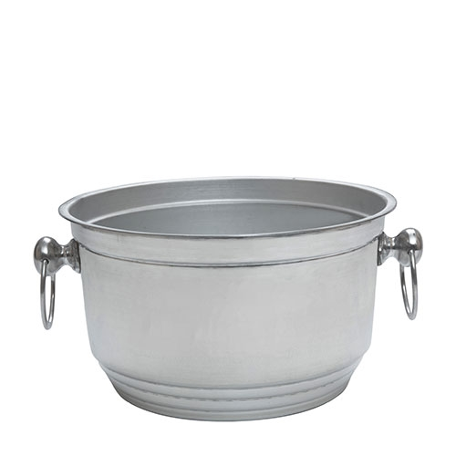 Beaumont Aluminium  Ring Handled Beer/Wine Tub 8Ltr Silver