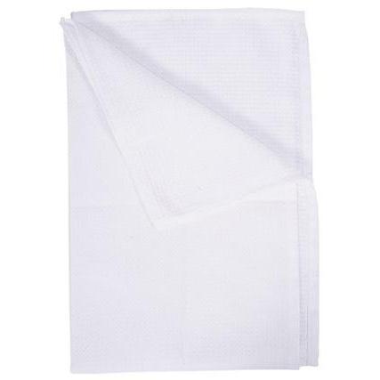 """Honeycomb Tea Towel 30 x 20"""" White"""