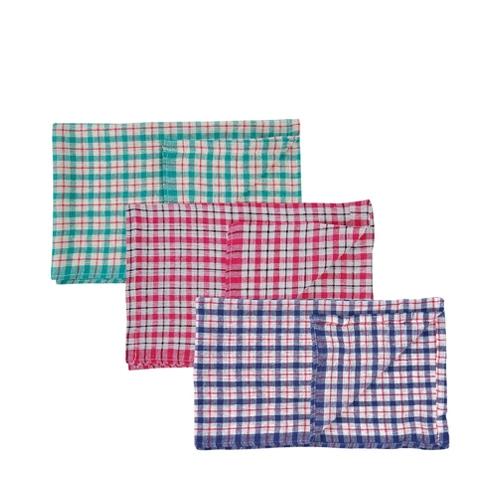 Coloured Check Tea Towel 43 x 68cm Mixed
