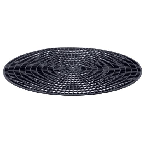 "Anti-Skid Round Tray Mat Fits 14"" Tray Black"