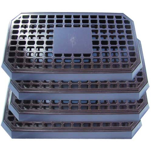 Plastic  Bar Drip Tray with Insert 406x216mm Brown