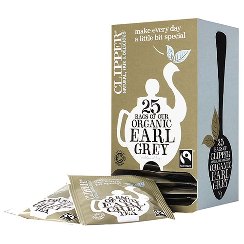Clipper Fairtrade Organic Earl Grey Enveloped Tea Bags 25 Envelopes