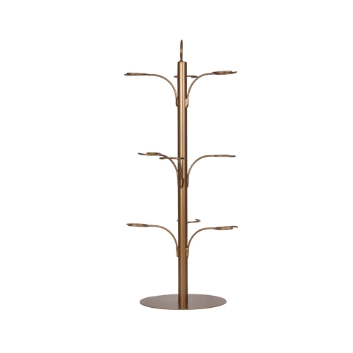 9 Glass Cocktail Tree Copper