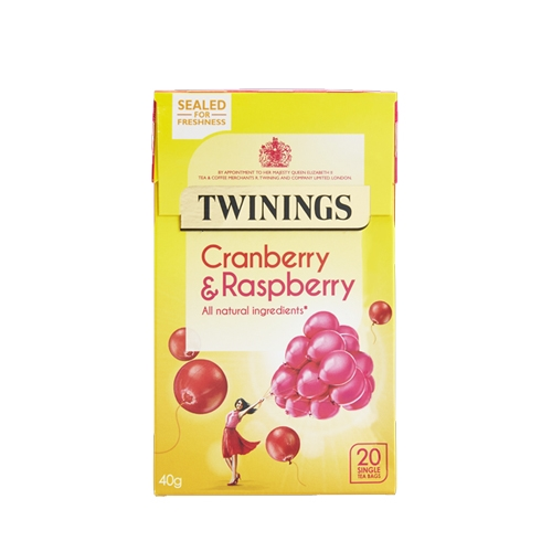 Twinings Cranberry & Raspberry  Enveloped Tea Bags 20 Envelopes