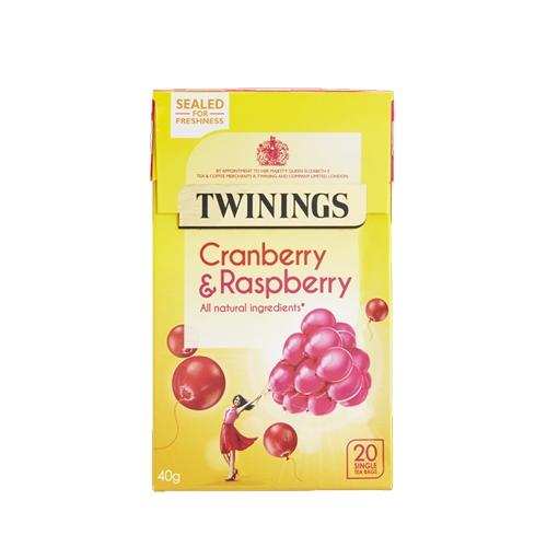 Twinings Cranberry & Raspberry  Enveloped Tea Bags 20 Envelopes
