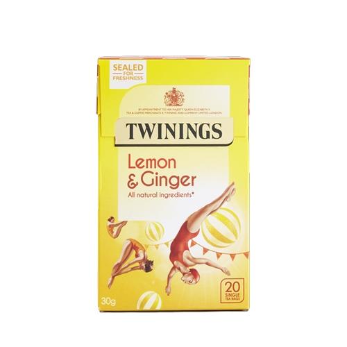 Twinings Lemon & Ginger  Enveloped Tea Bags 20 Envelopes